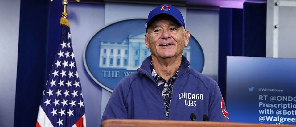 Actor Bill Murray Visits White House Briefing Room