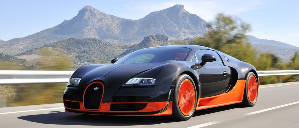 JEREZ, SPAIN - SEPTEMBER 19: The Bugatti Veyron Super Sport the World's Fastest Production Car on show and driven on September 19, 2010, on the mountain roads around Jerez, Spain, organized by Bugatti. (Shutterstock)