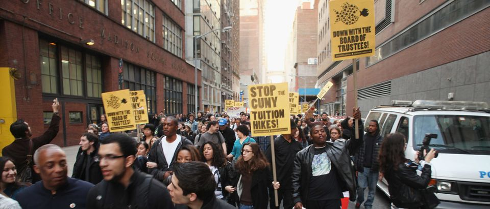 CUNY Students Hold March And Rally To Protest Proposed Tuition Hikes