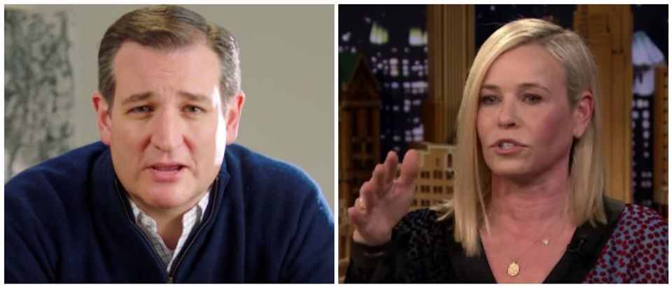 Cruz Handler Ted Cruz Youtube screenshot / Chelsea Handler The Tonight Show Starring Jimmy Fallon Youtube screenshot