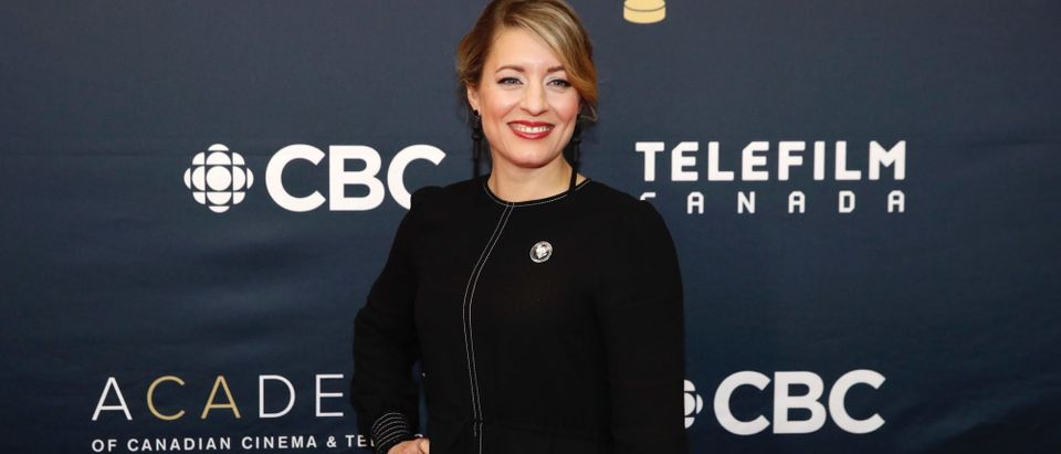 Canada's Minister of Canadian Heritage Melanie Joly arrives to attend the Canadian Screen Awards in Toronto, Ontario, Canada, March 11, 2018. REUTERS/Mark Blinch