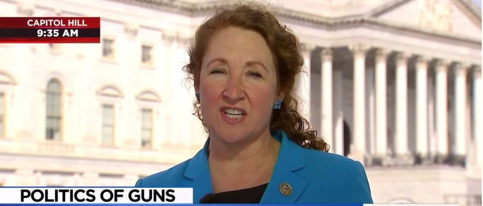 Democratic Connecticut Rep. Elizabeth Esty (Screenshot/MSNBC) | Esty Pressured To Quit Over Abuse Scandal