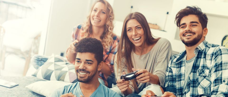 Video games are harmful to society because they encourage toxic competition and meritocratic values that will degrade society, a professor alleges in his 2018 book. (Shutterstock/Ivanko80)