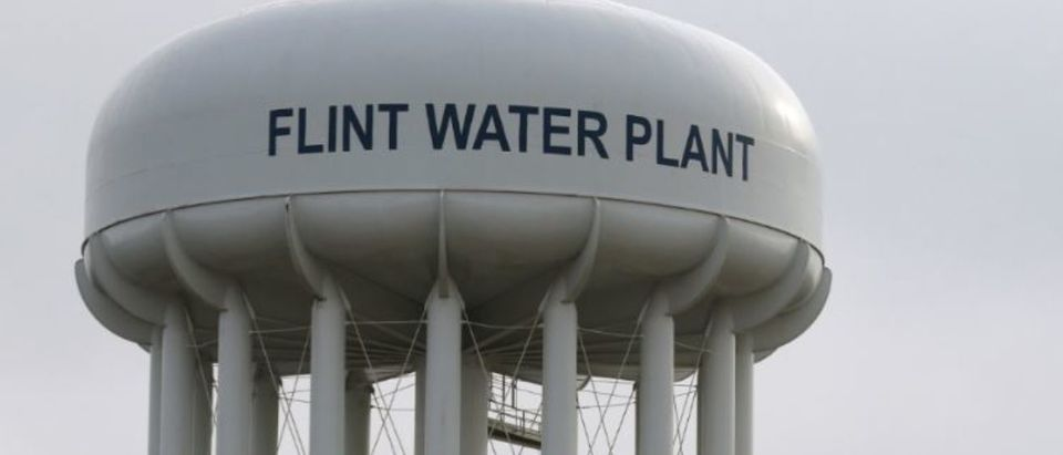 The Flint Water Plant tower is seen in Flint, Michigan, U.S. on Feb. 7, 2016. REUTERS/Rebecca Cook