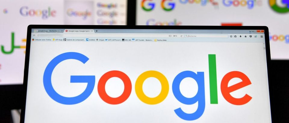 A picture taken on November 20, 2017 shows logos of US multinational technology company Google displayed on computers' screens. (Photo: LOIC VENANCE/AFP/Getty Images)