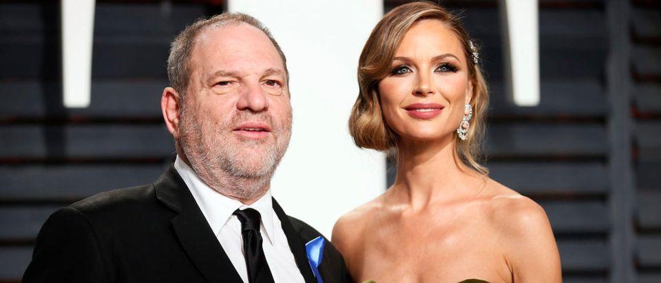 89th Academy Awards - Oscars Vanity Fair Party - Beverly Hills, California, U.S. - 26/02/17 Producer Harvey Weinstein and fashion designer Georgina Chapman. REUTERS/Danny Moloshok