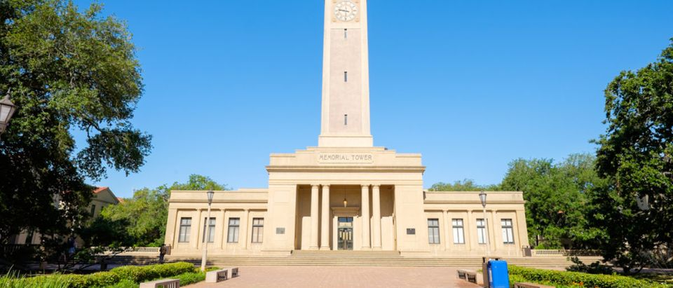 Pictured is Louisiana State University's Memorial Tower, dedicated to Louisianans who died in World War I. (Shutterstock/Fotoluminate LLC)