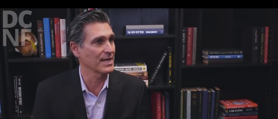 """Mark Ciardi, prodcuer of the movie """"Chappaquiddick"""" speaks with The Daily Caller News Foundation. (Screenshot/YouTube/DailyCallerNewsFoundation)"""