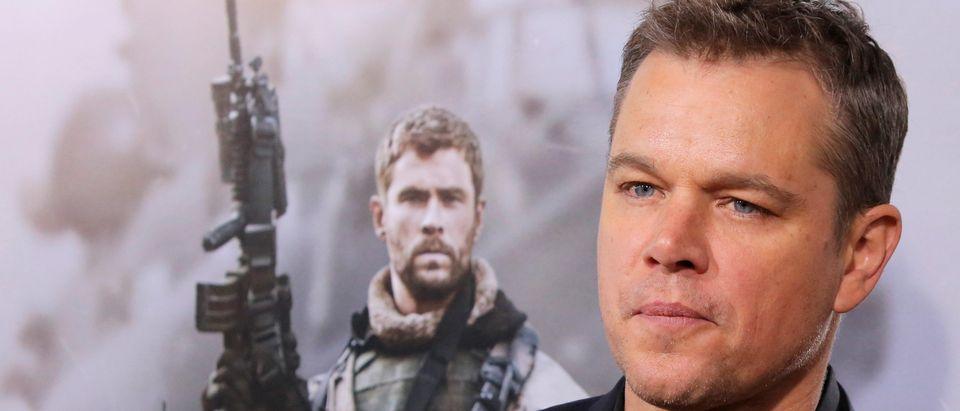 "Actor Matt Damon attends the world premiere of ""12 Strong"" in Manhattan, New York"