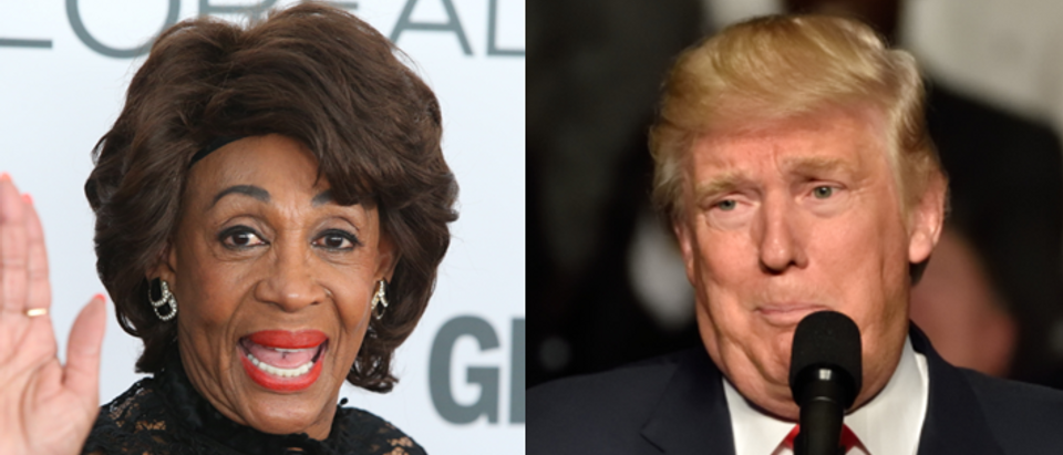 Maxine Waters Donald Trump (via Shutterstock)