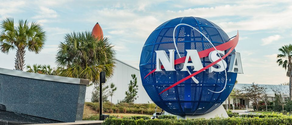 NASA logo on mock Globe at NASA Kennedy Space Center. (Shutterstock/Nadezda Murmakova) | NASA Acting Administrator Is Retiring