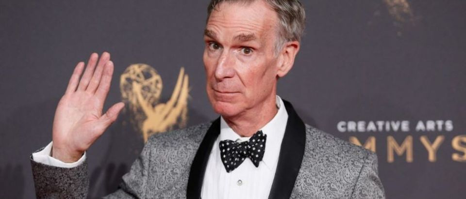 Television personality Bill Nye poses at the 2017 Creative Arts Emmy Awards in Los Angeles, California, U.S. September 9, 2017. REUTERS/Danny Moloshok
