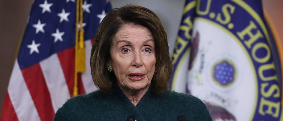 Nancy Pelosi Holds Weekly Press Conference At The Capitol