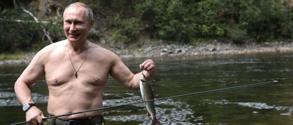 Putin goes fishing AFP/Getty Images/Alexey Nikolsky