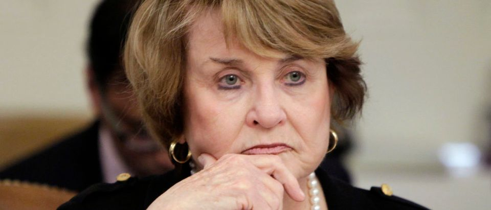 Chairwoman Louise Slaughter sits during the House Committee on Rules meeting