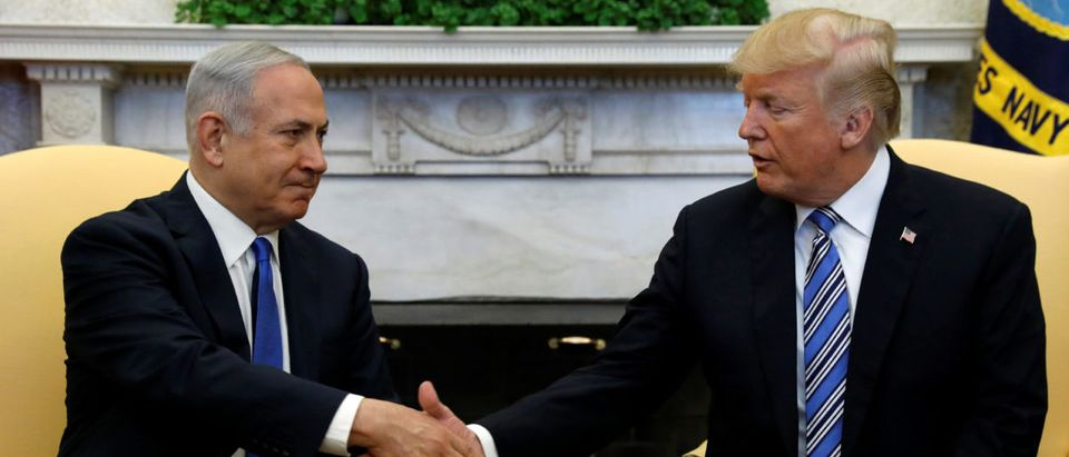 Trump meets Netanyau at the White House in Washington