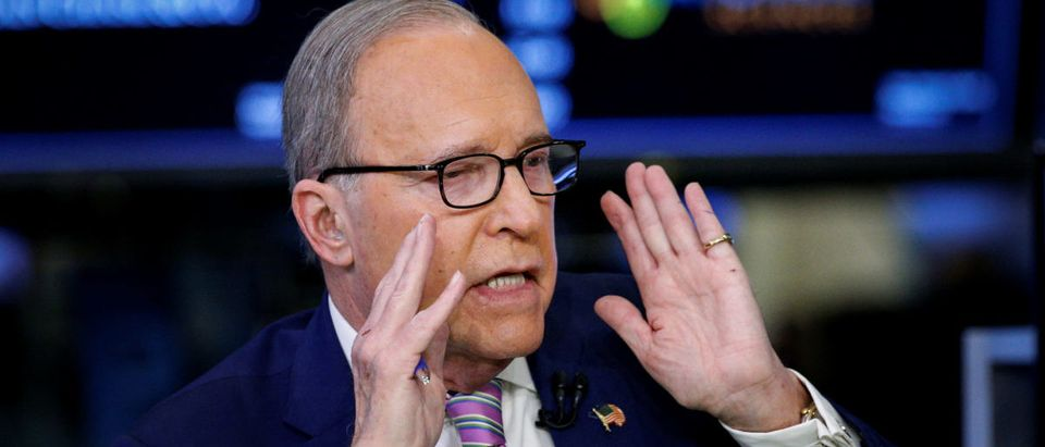 "Economic analyst Lawrence ""Larry"" Kudlow appears on CNBC at the NYSE in New York"