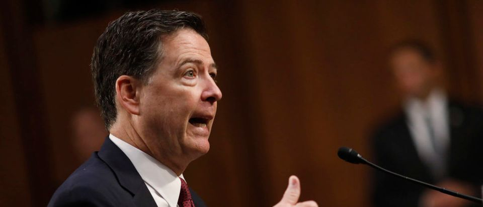 Former FBI Director Comey testifies before a Senate Intelligence Committee hearing on Russia's alleged interference in the 2016 U.S. presidential election on Capitol Hill in Washington