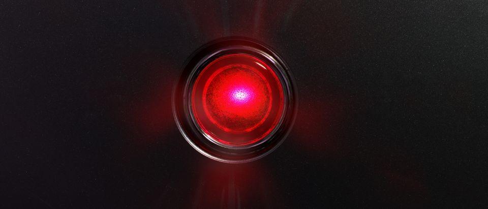 Red glowing status indicator, warning lamp or button (Shutterstock/optimarc) | Trigger Warning Sign Mandate Removed