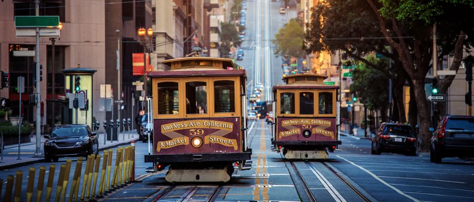 A streetcar in San Francisco. Shutterstock)
