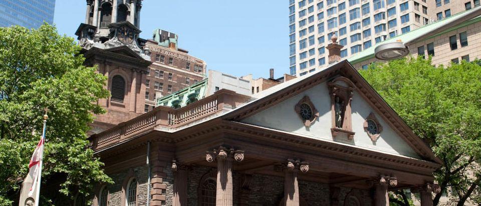 St Pauls Chapel In Summer (Courtesy of Leo Sorel and Trinity Wall Street) | NY Churches Install Metal Detectors