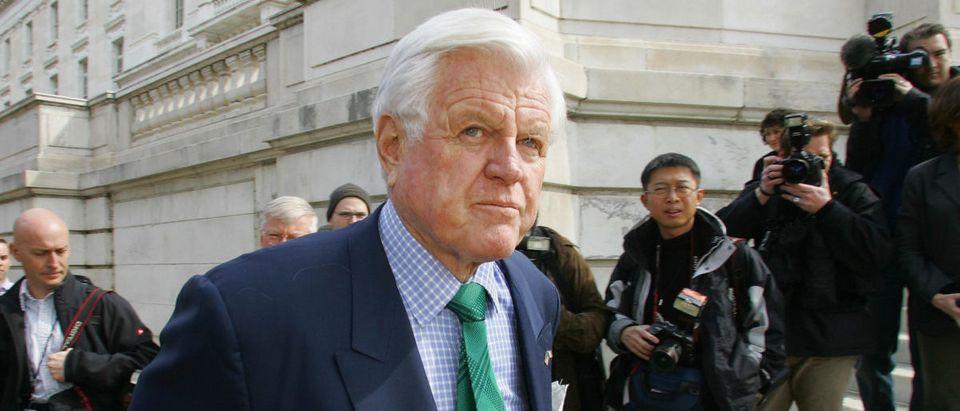 US Senator Ted Kennedy, D-MA, walks pas