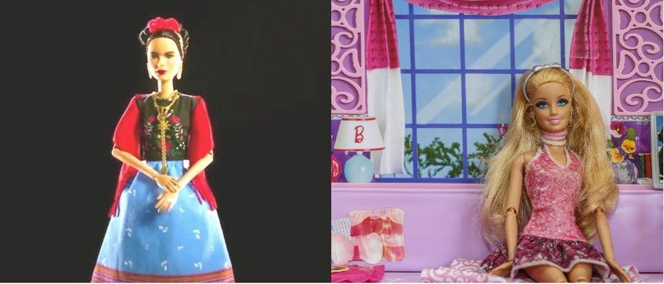 YouTube screenshot/Barbie, Shutterstock/Suphatthra China olovedog