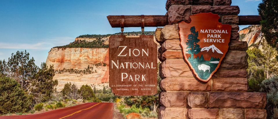 Entrance to Zion National Park in Utah. (Shutterstock/James Marvin Phelps) | Interior Scraps Plan To Double Park Fees