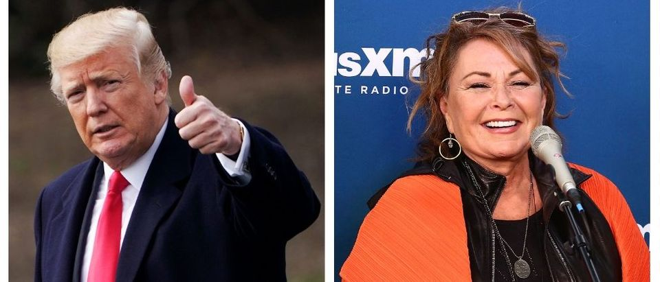 Donald Trump, Roseanne Barr (Getty Images)