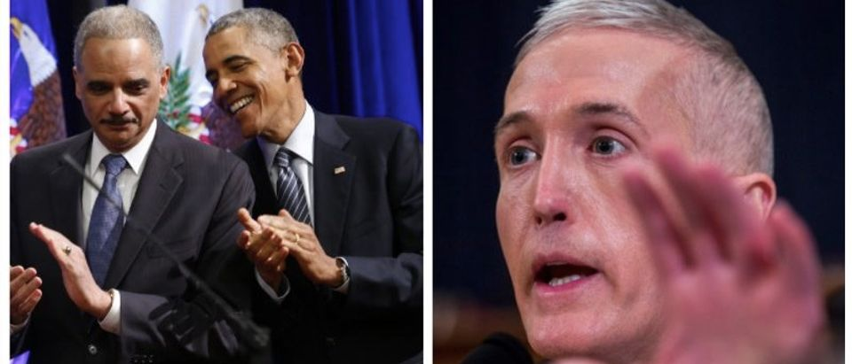 Eric Holder, Barack Obama, Trey Gowdy (Getty Images)