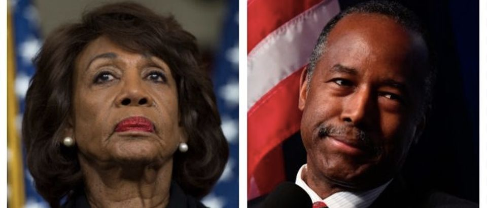 Maxine Waters, Ben Carson (Getty Images)