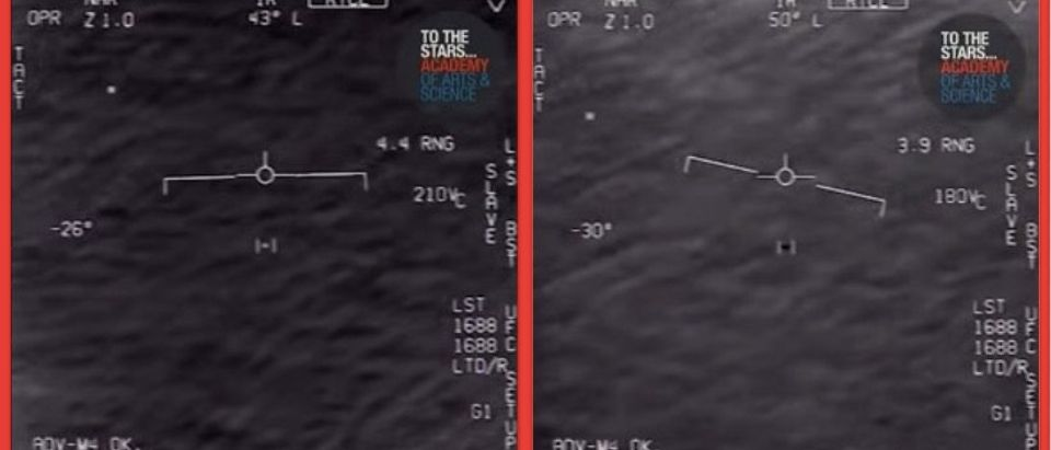 Stills of declassified Navy footage of a 2015 UFO (YouTube)