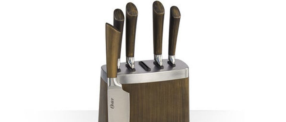 Normally $75, this 6-piece cutlery block is 40 percent off