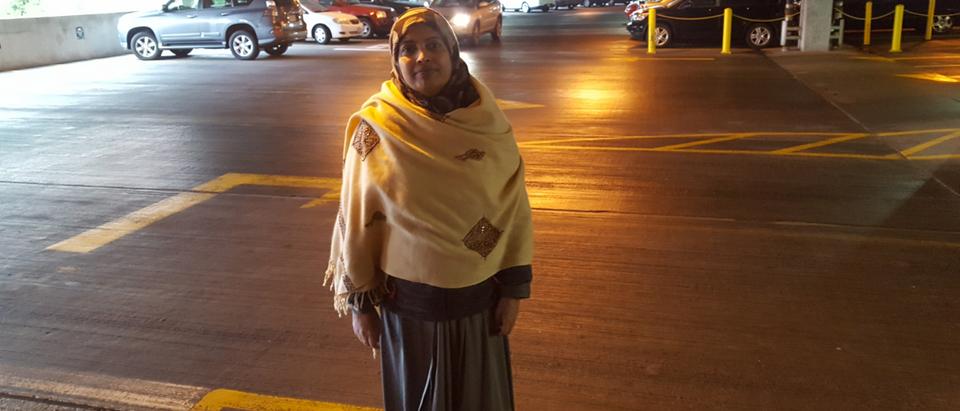 Samina Gilani outside Fairfax County court March 7, 2018
