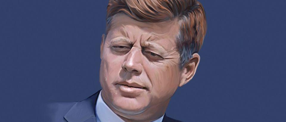 John F Kennedy painting. Shutterstock