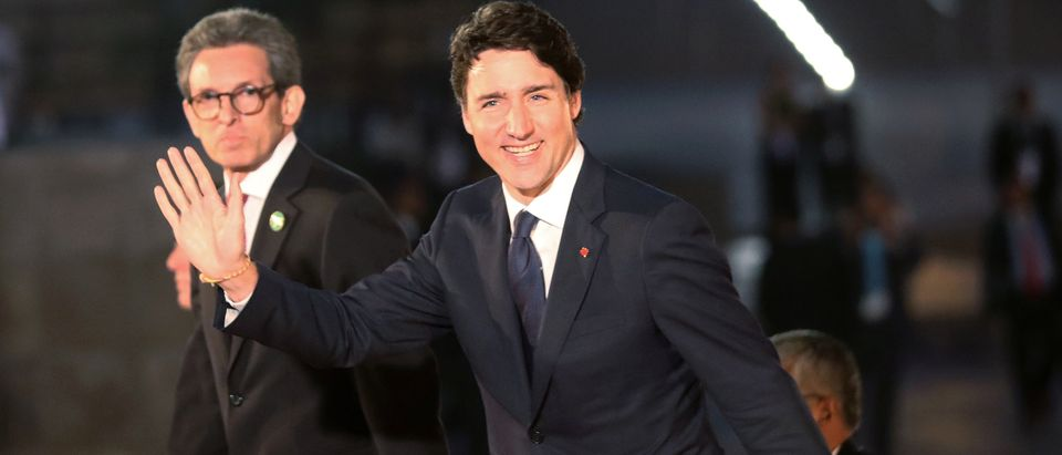 Canada's Prime Minister Justin Trudeau arrives for the inauguration of the VIII Summit of the Americas in Lima