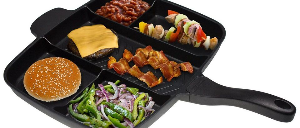 Imagine making a meal this diverse with only one pan to clean (Photo via Amazon)
