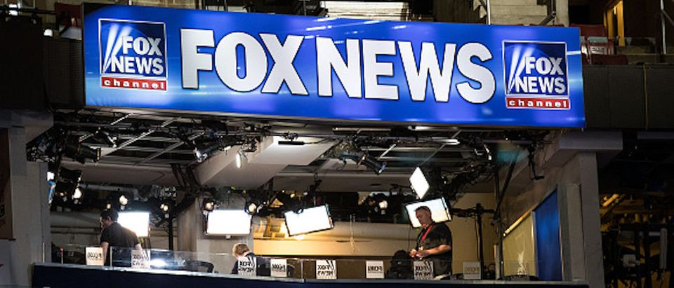 PHILADELPHIA, PA - JULY 24: A view of the Fox News booth ahead of the Democratic National Convention at the Wells Fargo Center, July 24, 2016 in Philadelphia, Pennsylvania. The Democratic National Convention will formally kick off on Monday. (Photo by Drew Angerer/Getty Images) | Fox News Has Held The Number One 16 Years