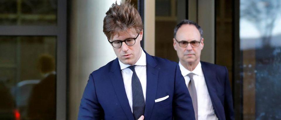 Alex van der Zwaan leaves after pleading guilty in Washington