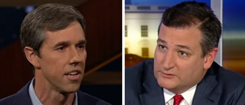 Beto O'Rourke Ted Cruz (screengrabs)