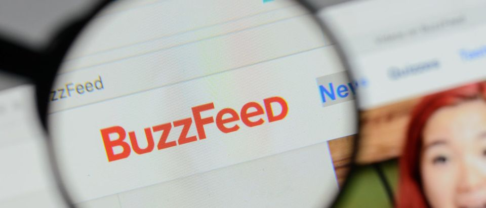 Milan, Italy - August 10, 2017: Buzzfeed logo on the website homepage. Casimiro PT / Shutterstock.com