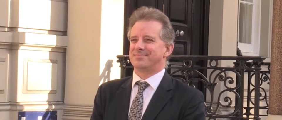 Former British spy Christopher Steele visited the State Department in October 2016 and briefed officials there about his work on the infamous anti-Trump dossier, it was revealed on Wednesday. (YouTube screen capture/CBS News)