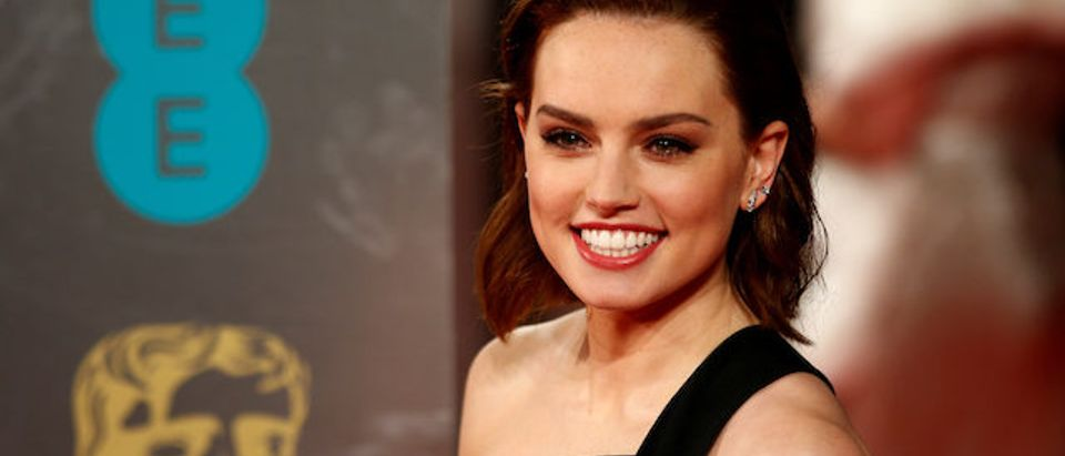 Daisy Ridley arrives for the British Academy of Film and Television Awards (BAFTA) at the Royal Albert Hall in London, Britain February 12, 2017. REUTERS/Peter Nicholls
