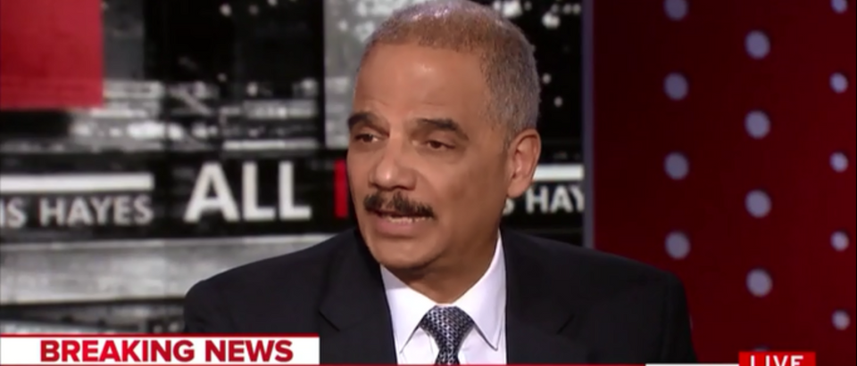 Eric Holder Hangs Comey Out To Dry 'Made Some Really Serious Mistakes' - All In With Chris Hayes 4-17-18