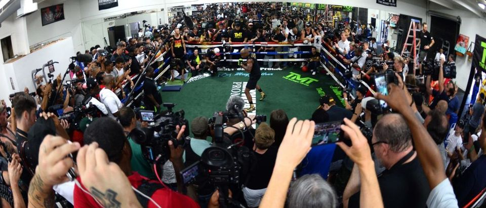 Boxing: Mayweather Media Workout