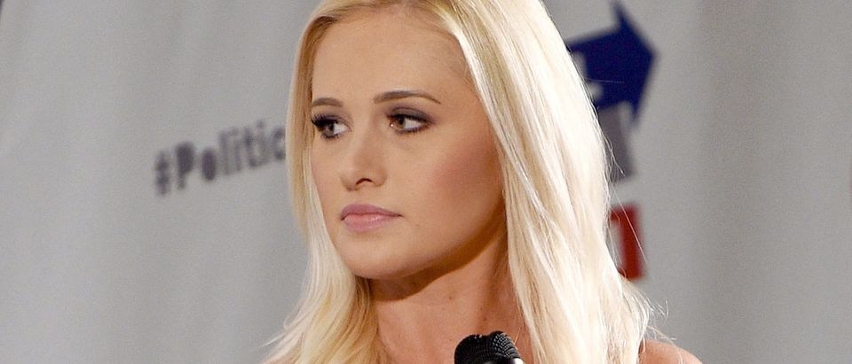 Tomi Lahren at the 'Tomi Lahren vs. Symone Sanders' panel during Politicon at Pasadena Convention Center on July 30, 2017 in Pasadena, California. (Photo by Joshua Blanchard/Getty Images for Politicon)