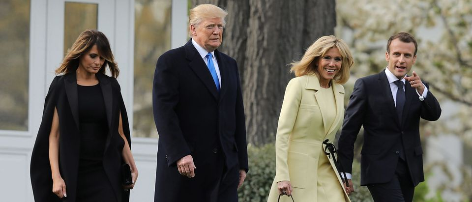 President And Mrs. Trump Welcome French President Macron To White House