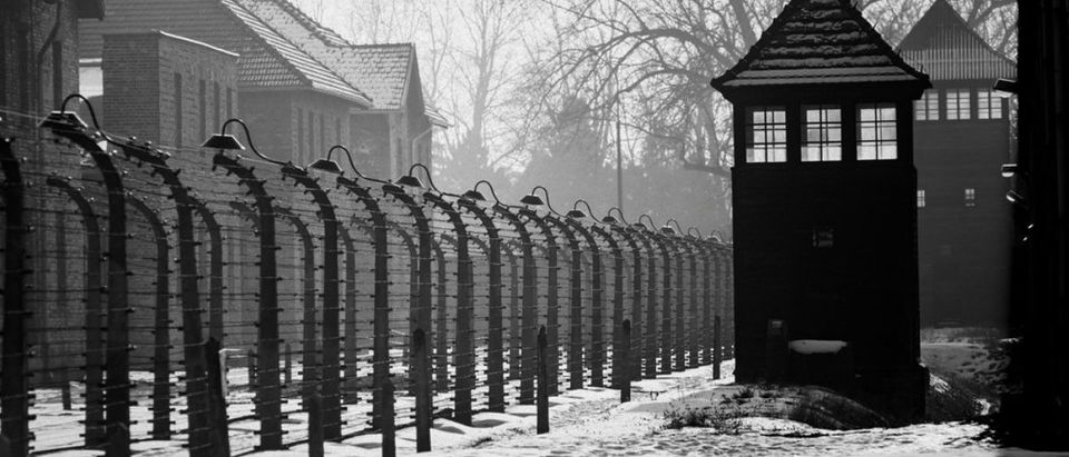 Pictured is a concentration camp during the Holocaust. (Credit: Shutterstock)