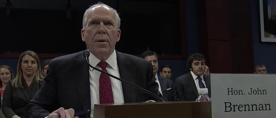 Former CIA Director John Brennan testifies before the House Permanent Select Committee on Intelligence, May 23, 2017. (YouTube screen capture/PBS Newshour) | Russia Investigators Curious Of Brennan
