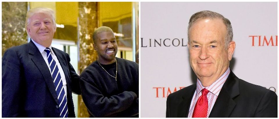 Kanye O Reilly Left: TIMOTHY A. CLARY/AFP/Getty Images Right: Photo by Neilson Barnard/Getty Images for TIME